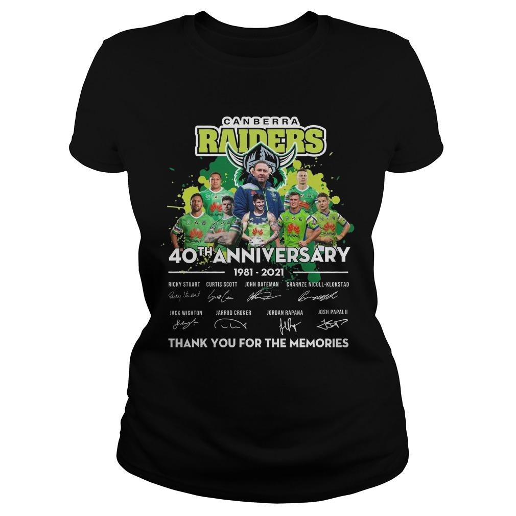 Canberra Raiders 40th Anniversary Thank You For The Memories Longsleeve