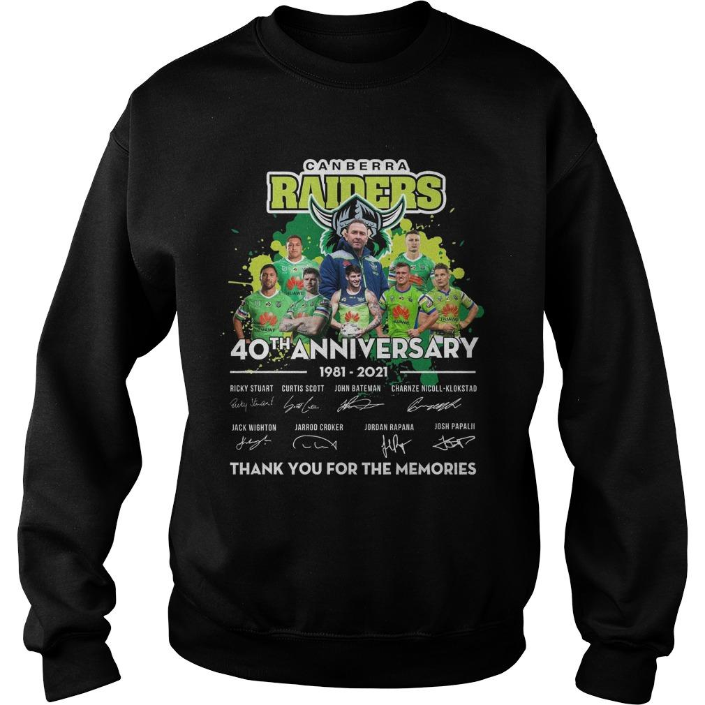 Canberra Raiders 40th Anniversary Thank You For The Memories Sweater
