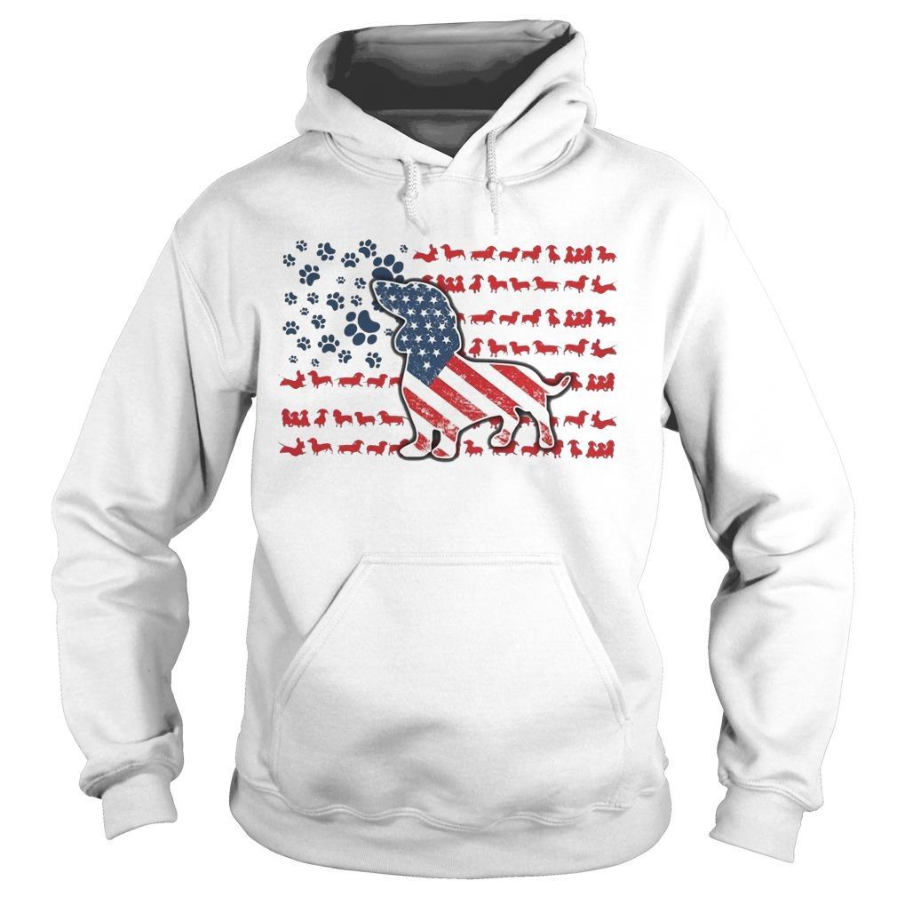 Dachshund American Flag Hoodie