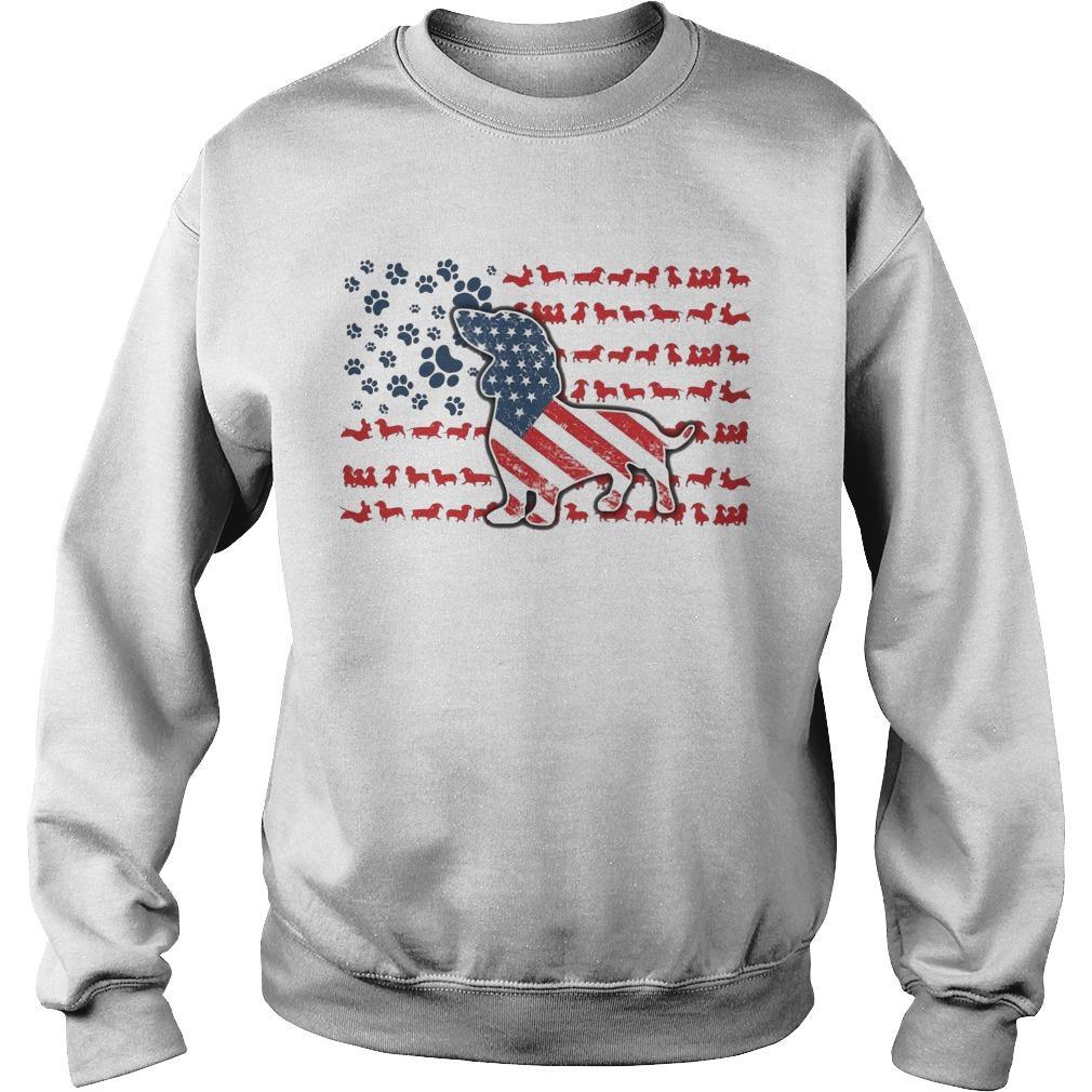 Dachshund American Flag Sweater