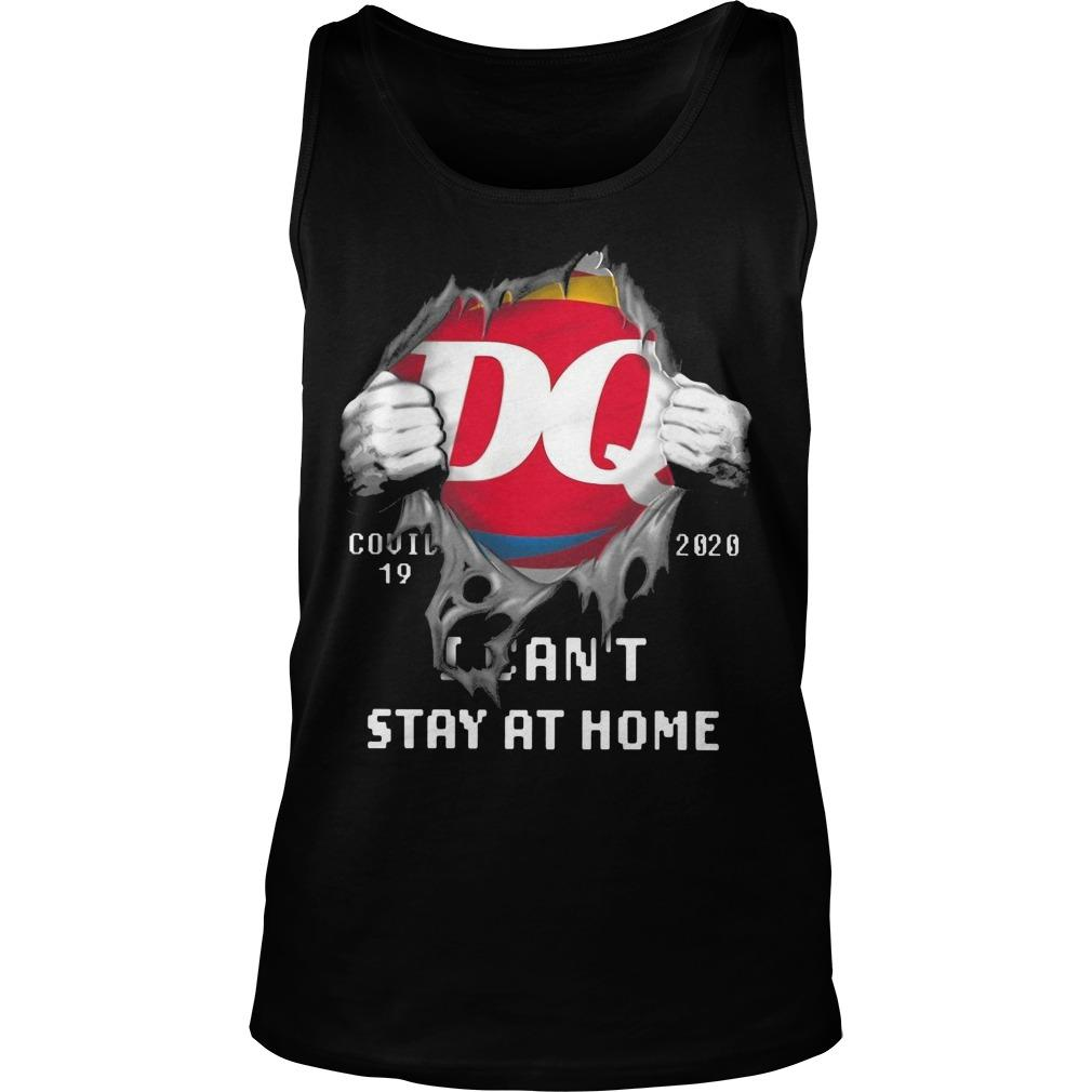 Dairy Queen Covid 19 2020 I Can't Stay At Home Tank Top