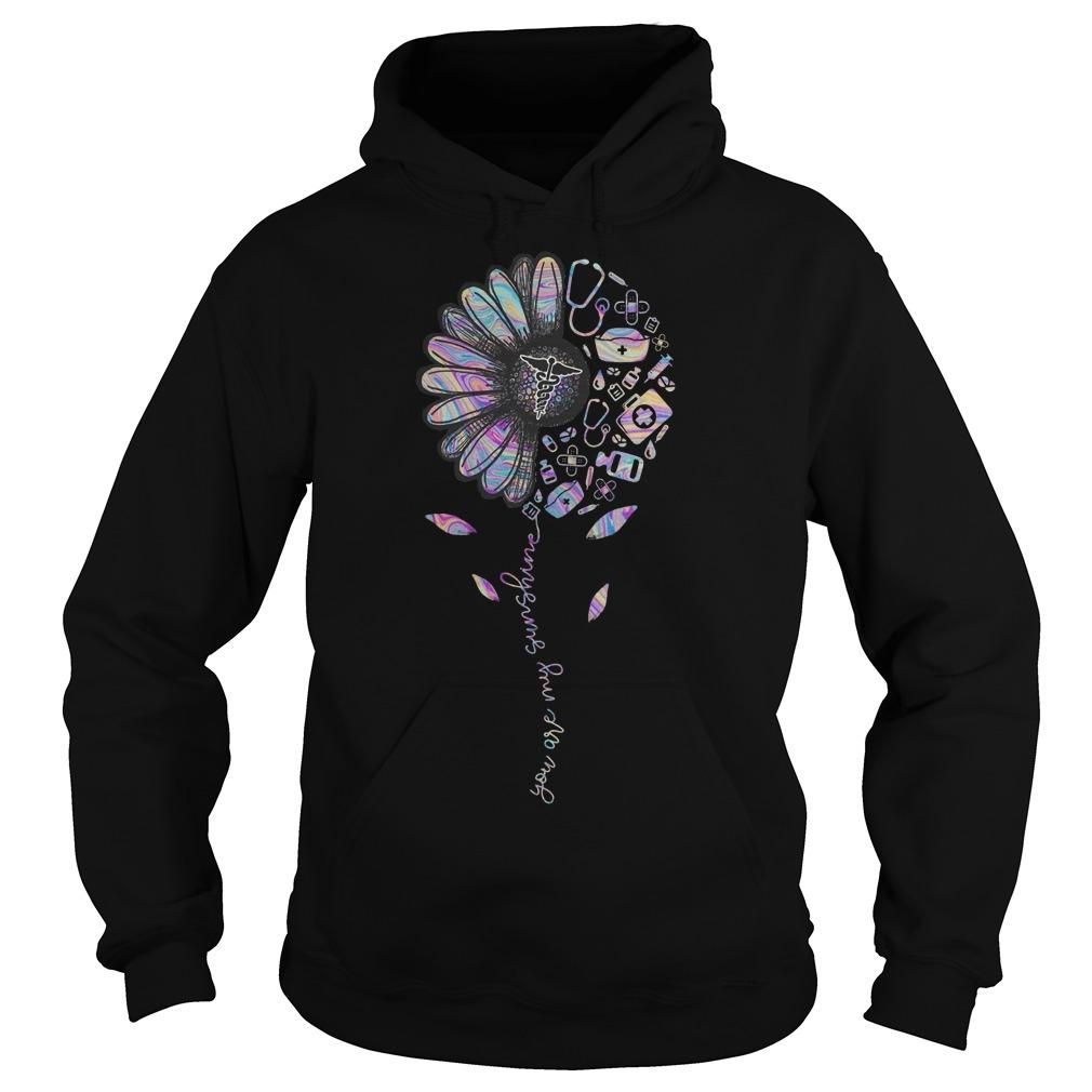 Flower Therapy You Are My Sunshine Hoodie
