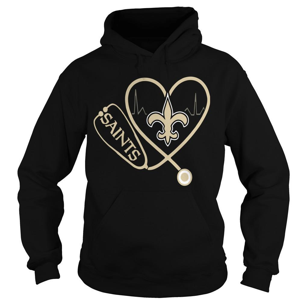 Heartbeat Love Nurse New Orleans Saints Hoodie