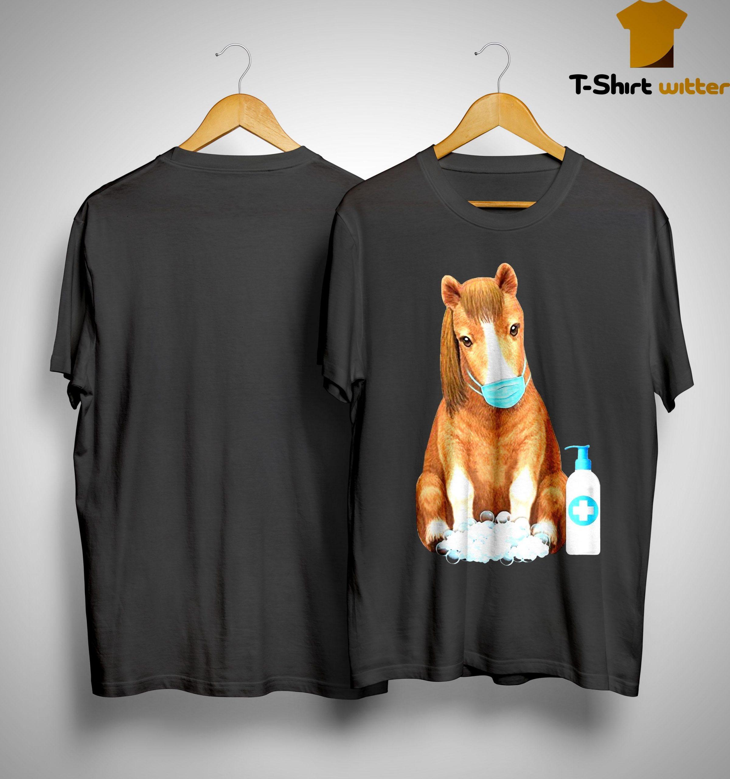 Horse Face Mask Washing Hand Shirt