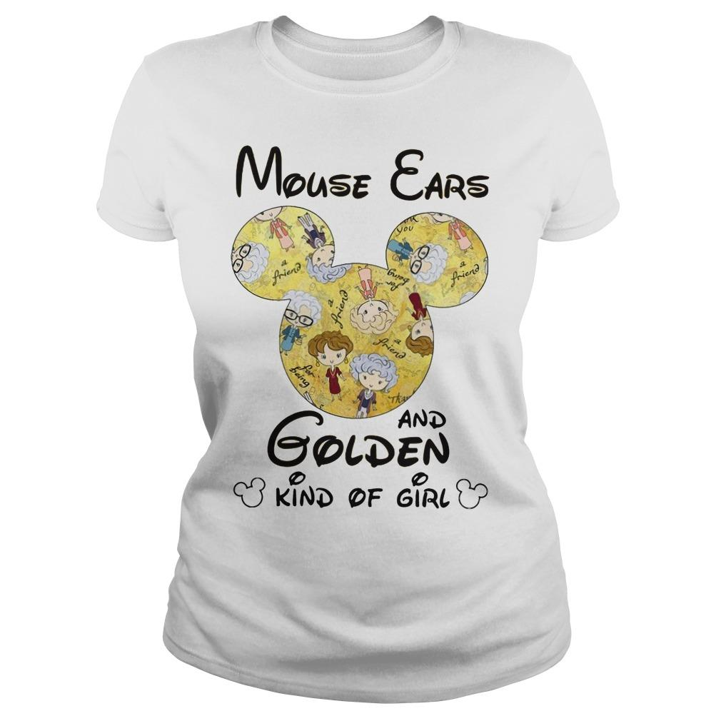 Mouse Ears And Golden Kind Of Girl Longsleeve