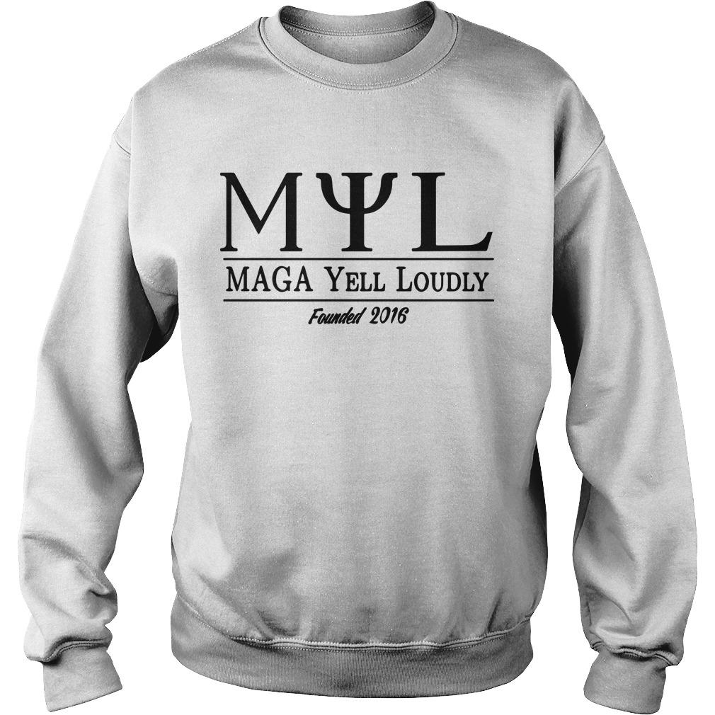 Myl Maga Yell Loudly Founded 2016 Sweater