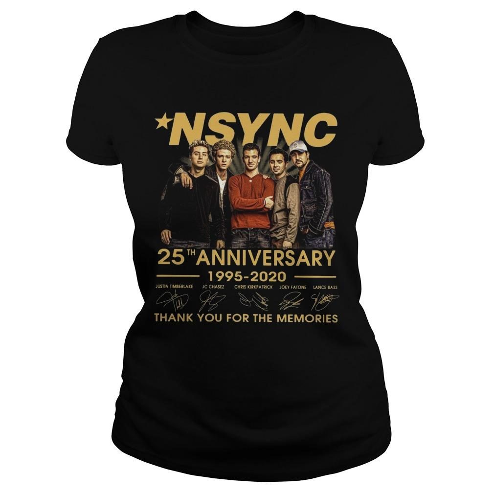 Nsync 25th Anniversary 1995 2020 Thank You For The Memories Longsleeve