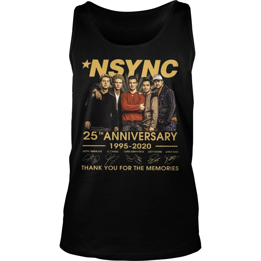 Nsync 25th Anniversary 1995 2020 Thank You For The Memories Tank Top