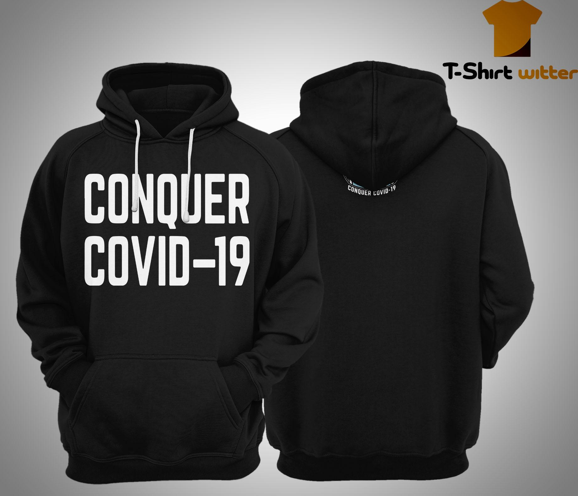 Ryan Reynolds Less Boring Conquer Covid 19 Hoodie