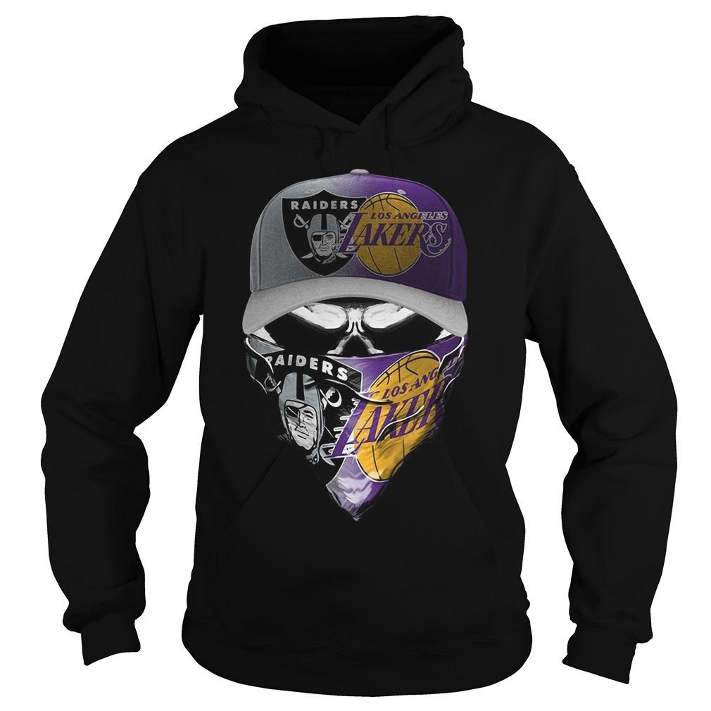 Skull Oakland Raiders Los Angeles Lakers Hoodie