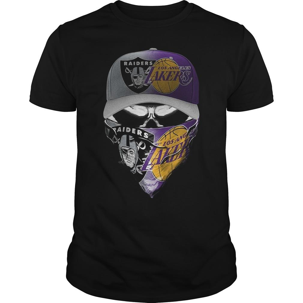 Skull Oakland Raiders Los Angeles Lakers Shirt