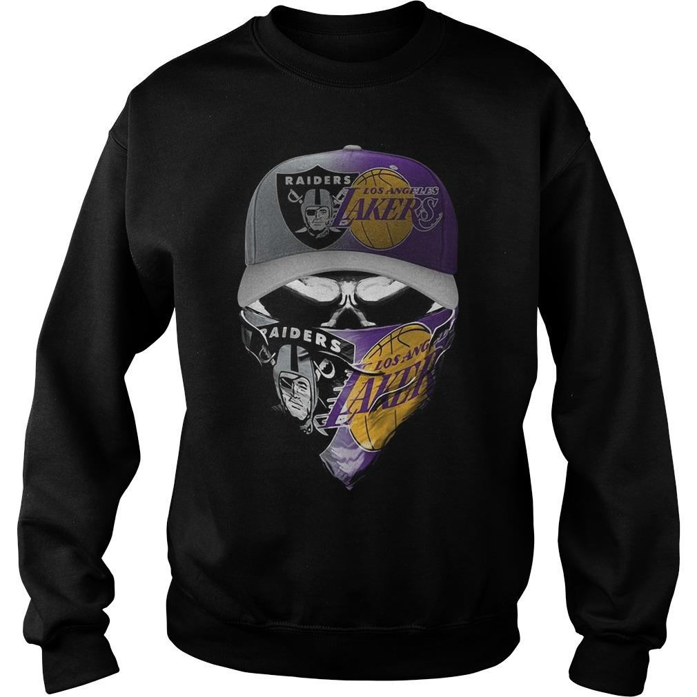 Skull Oakland Raiders Los Angeles Lakers Sweater