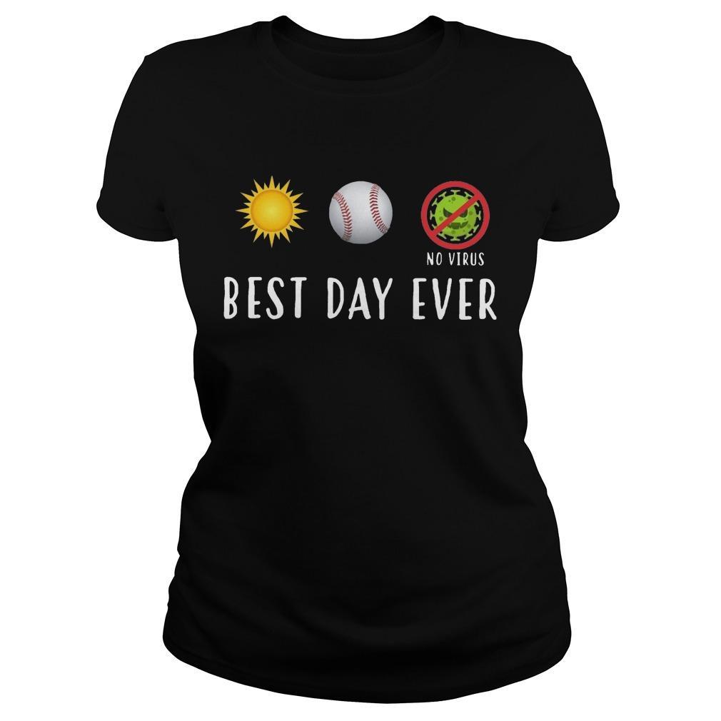 Sun Softball No Virus Best Day Ever Longsleeve