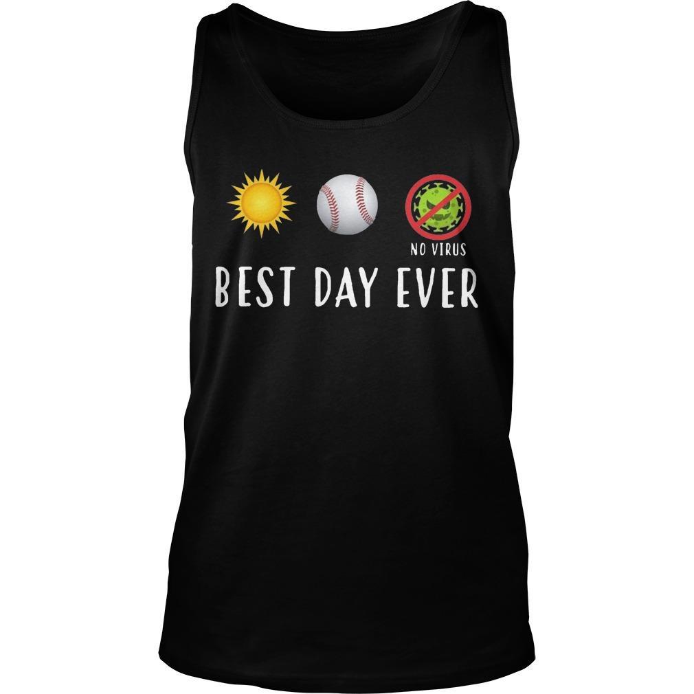 Sun Softball No Virus Best Day Ever Tank Top