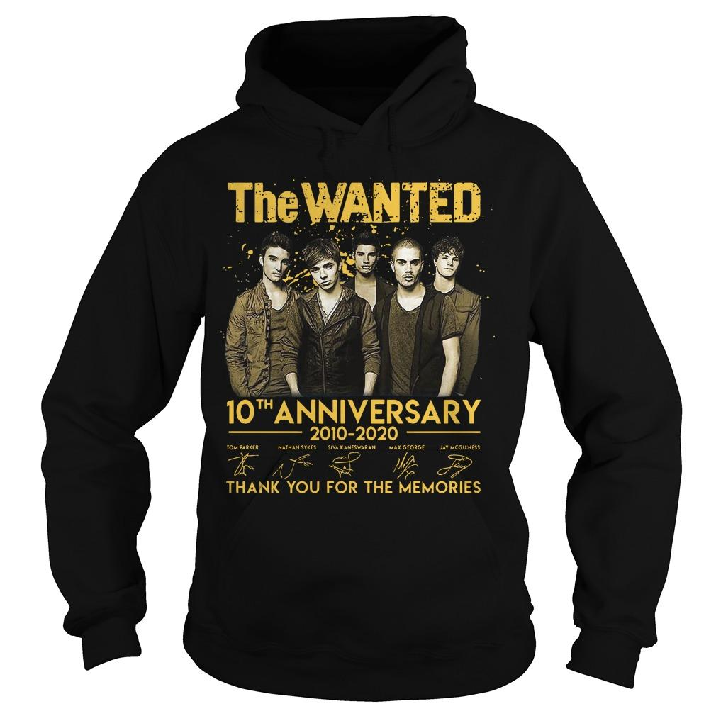 The Wanted 10th Anniversary 2010 2020 Thank You For The Memories Signatures Hoodie
