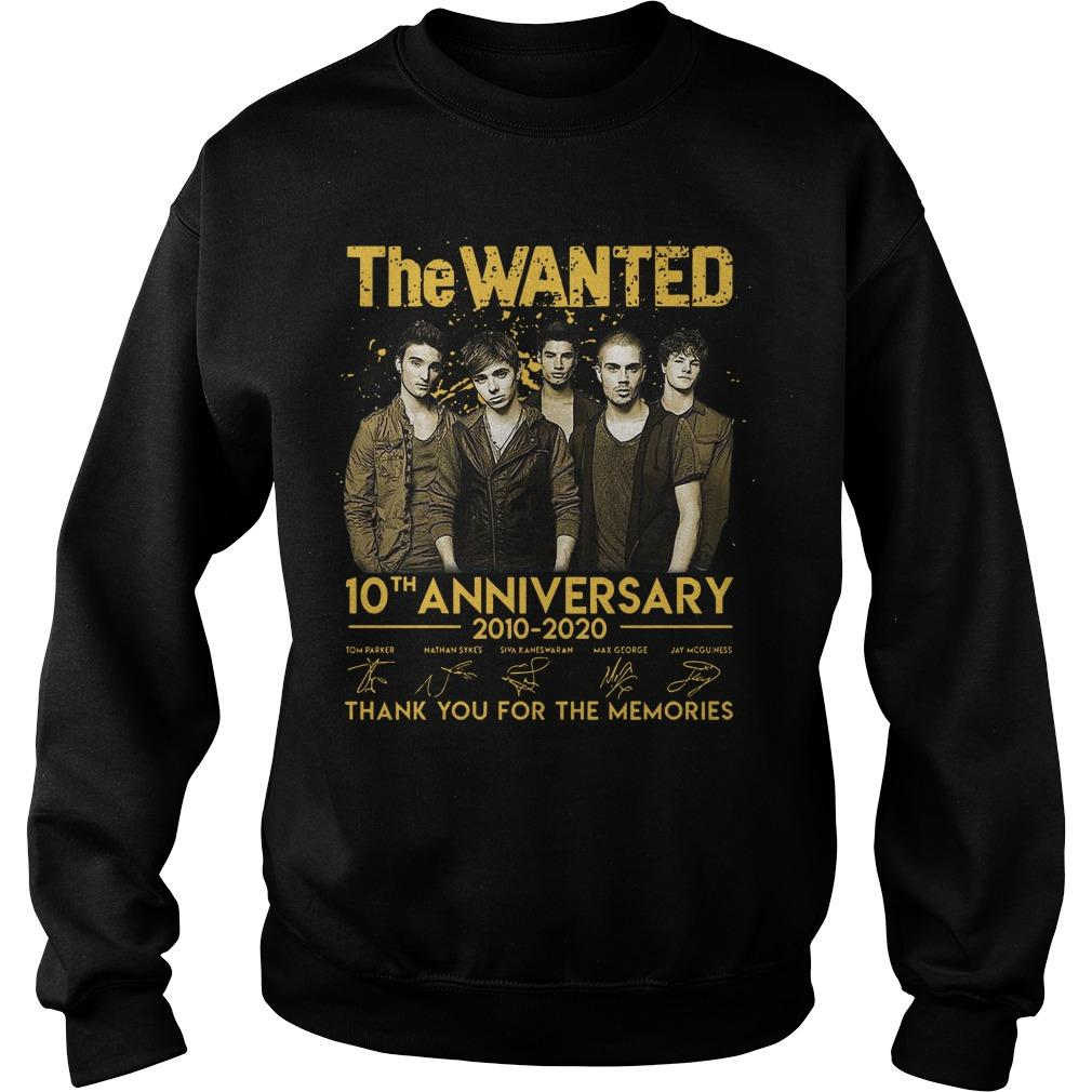 The Wanted 10th Anniversary 2010 2020 Thank You For The Memories Signatures Sweater
