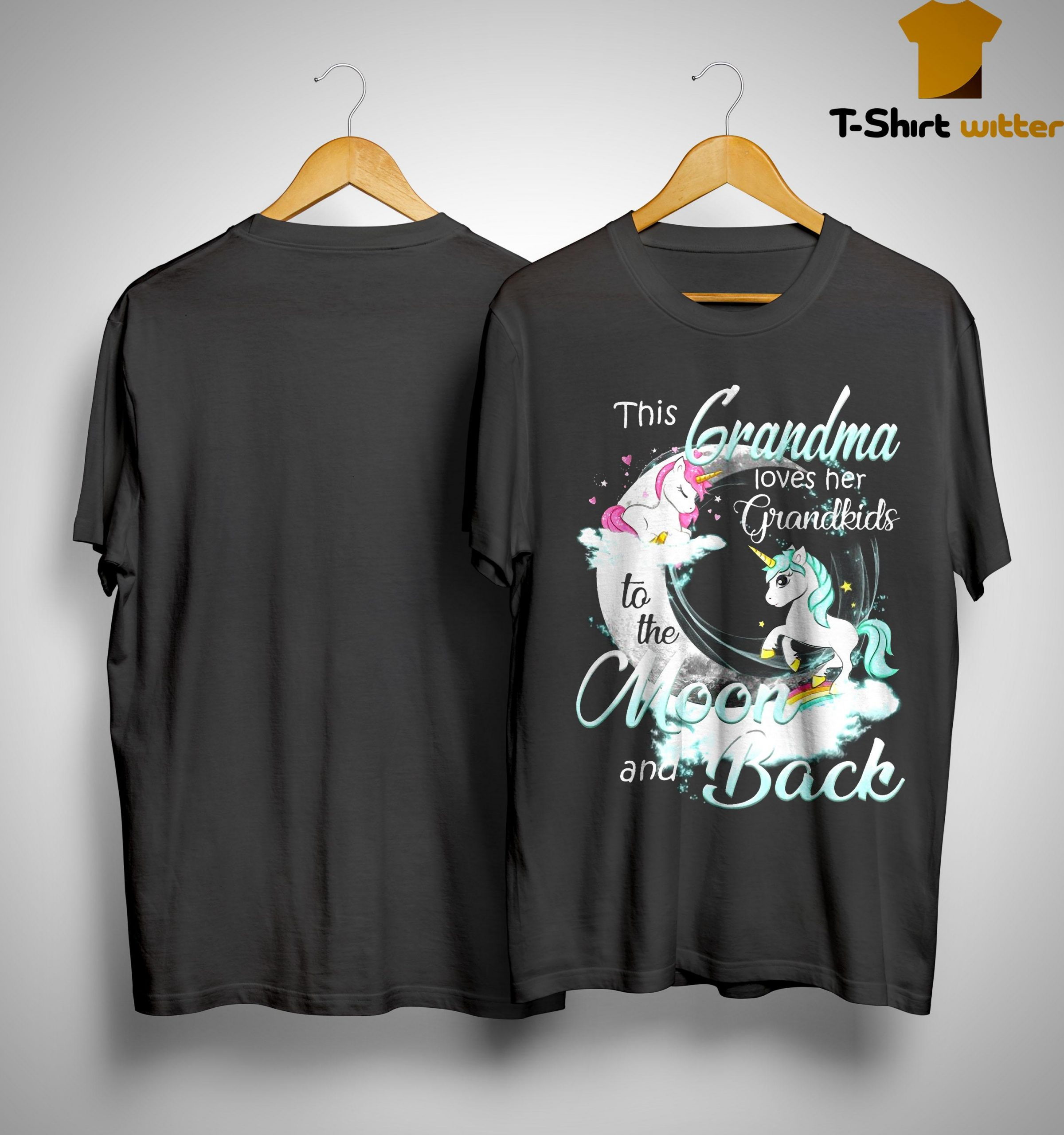 Unicorn This Grandma Loves Her Grandkids To The Moon And Back Shirt