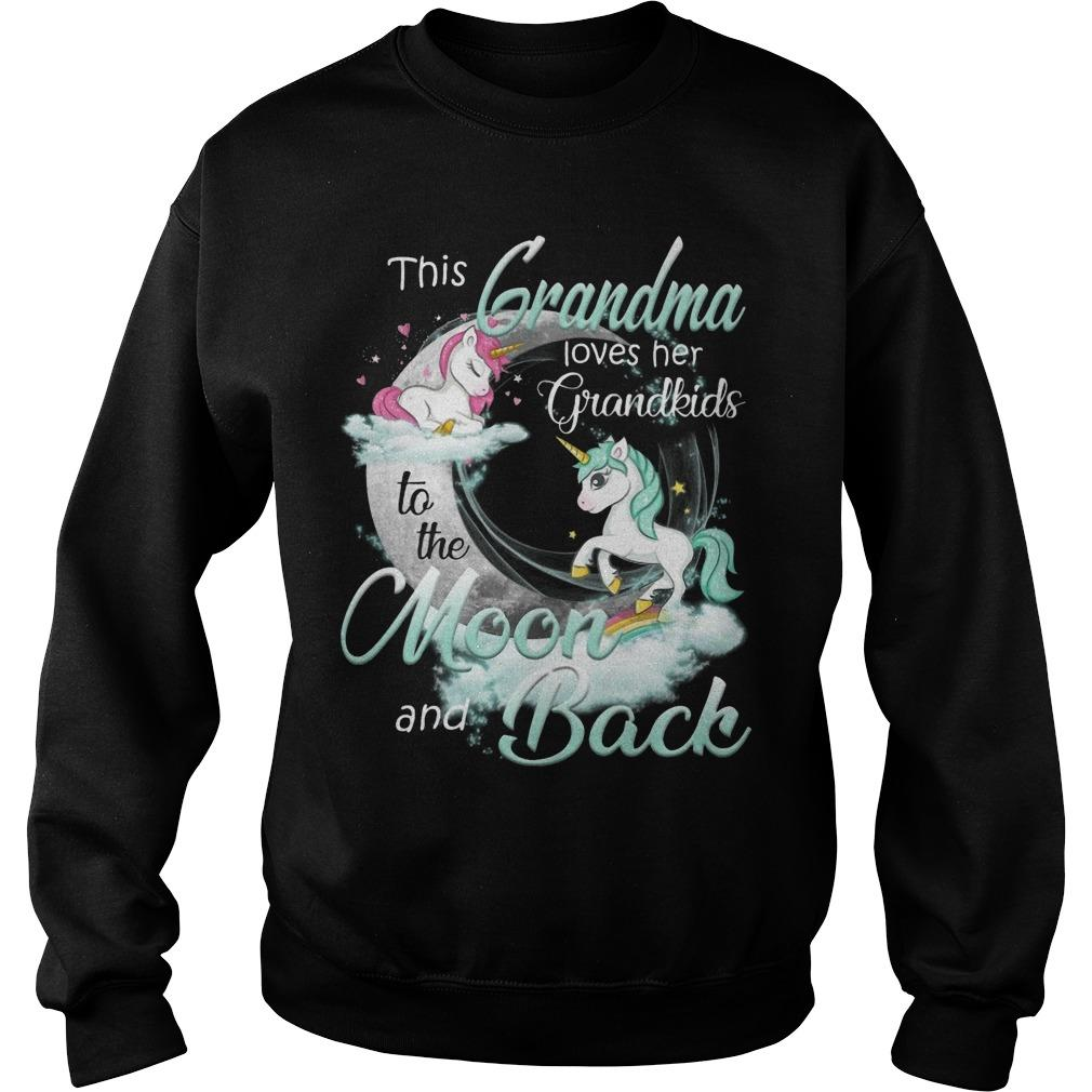 Unicorn This Grandma Loves Her Grandkids To The Moon And Back Sweater