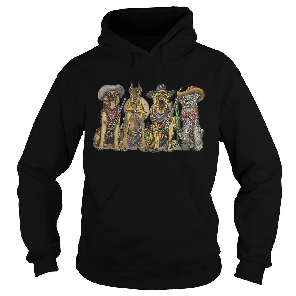 Vintage 1990s Cowboy Dogs Corpus Christi Hoodie