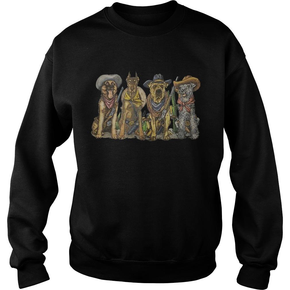 Vintage 1990s Cowboy Dogs Corpus Christi Sweater