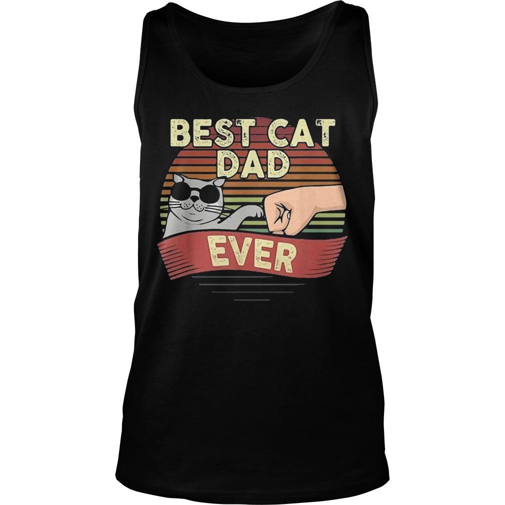 Vintage Best Cat Dad Ever Tank Top
