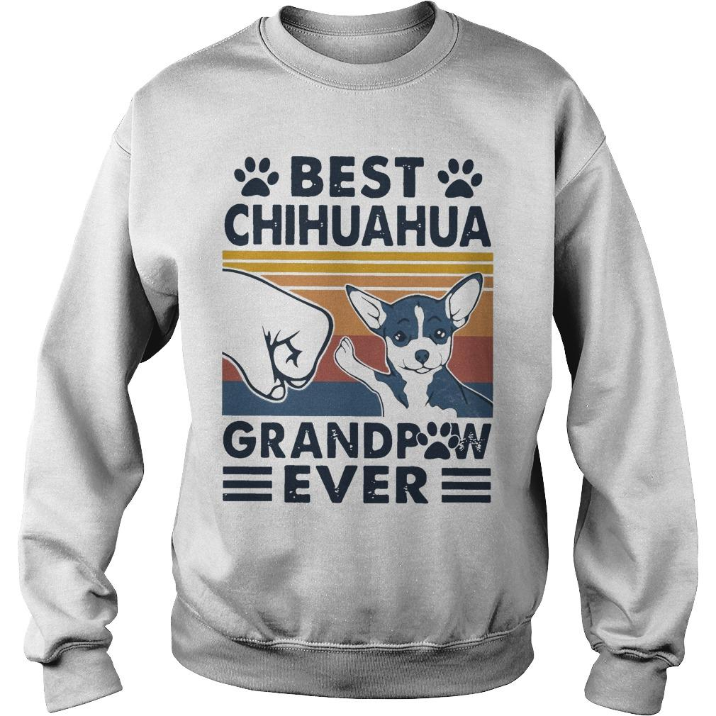 Vintage Best Chihuahua Grandpaw Ever Sweater