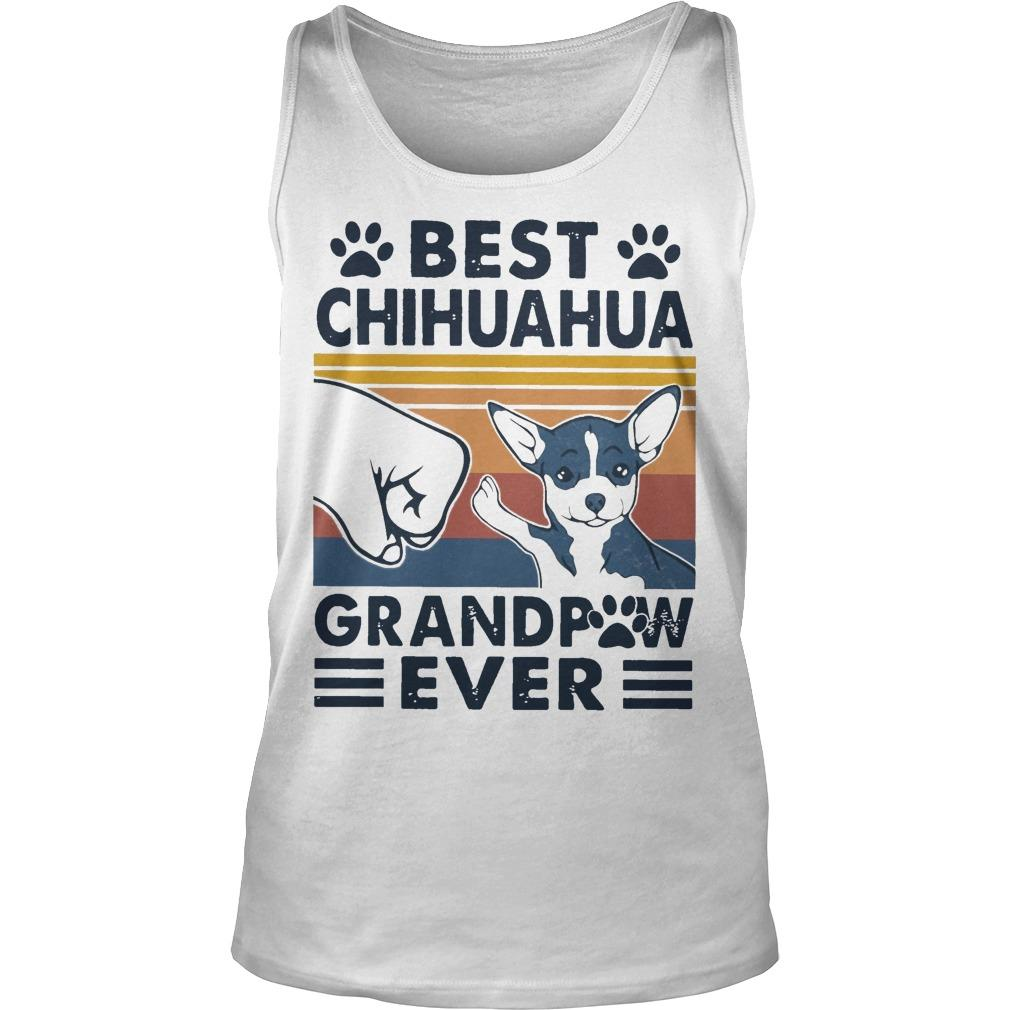 Vintage Best Chihuahua Grandpaw Ever Tank Top
