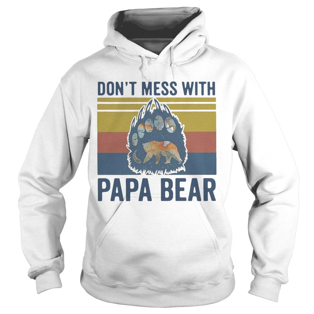 Vintage Don't Mess With Papa Bear Hoodie