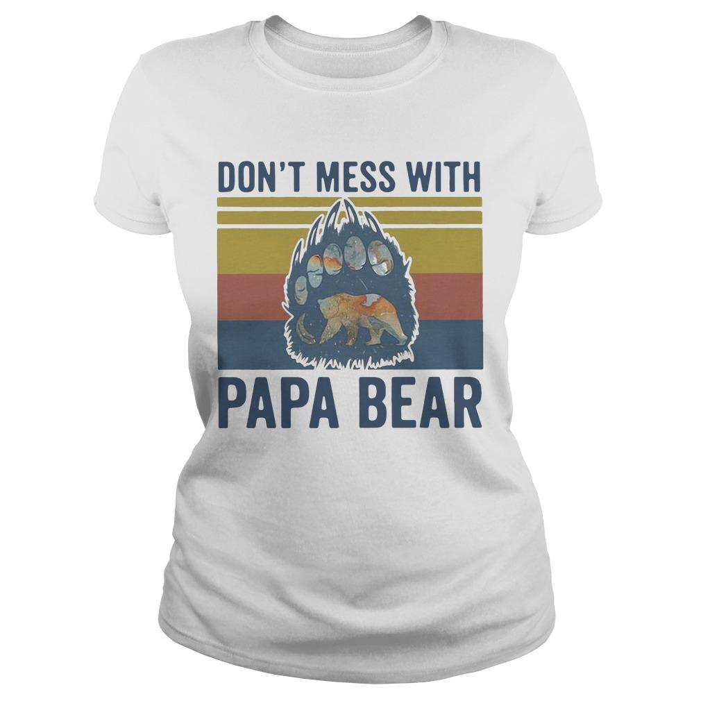 Vintage Don't Mess With Papa Bear Longsleeve