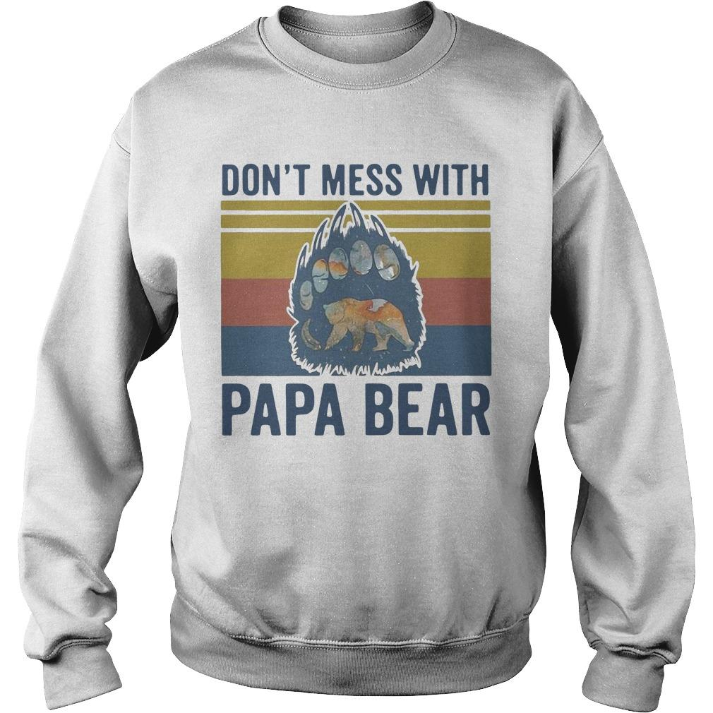 Vintage Don't Mess With Papa Bear Sweater