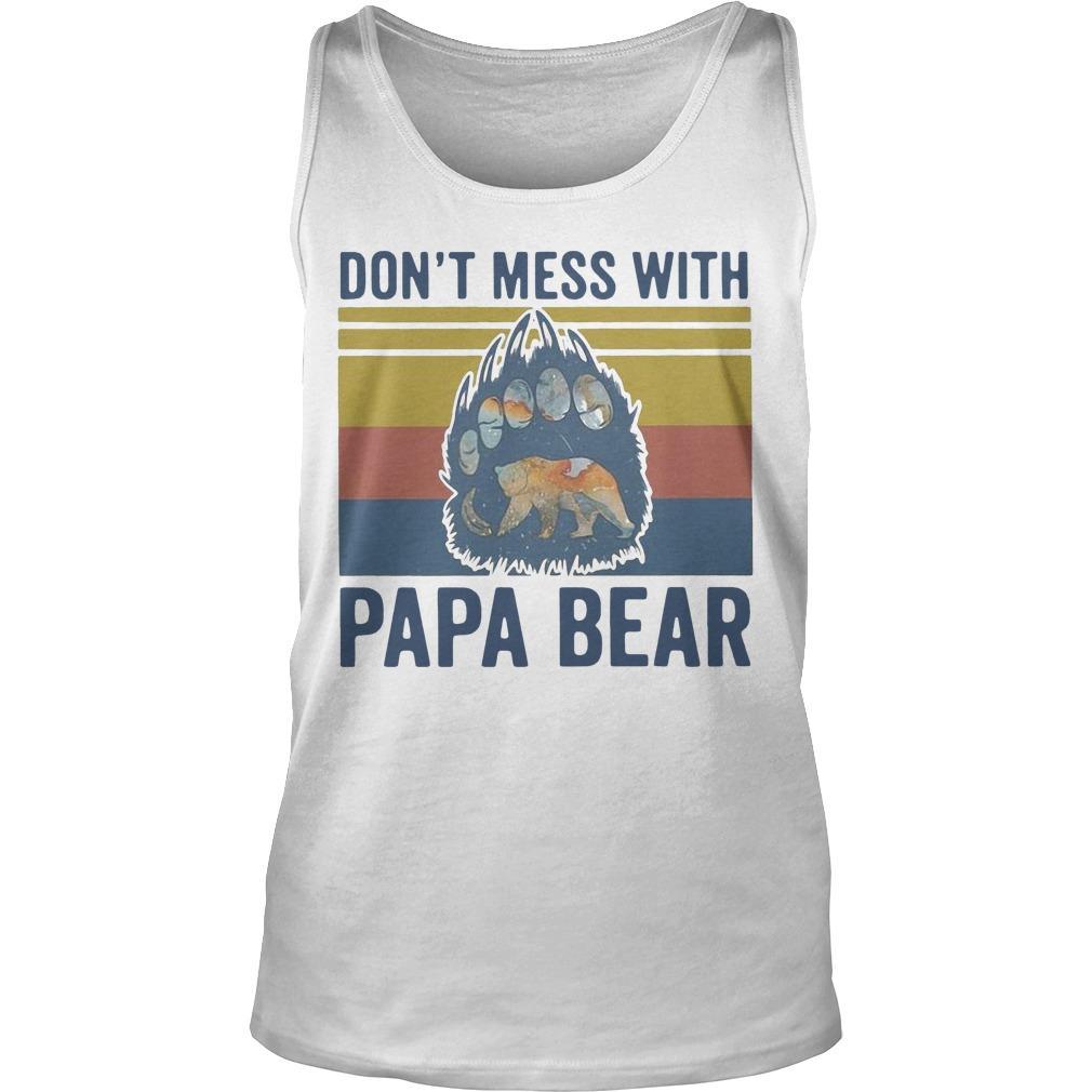 Vintage Don't Mess With Papa Bear Tank Top