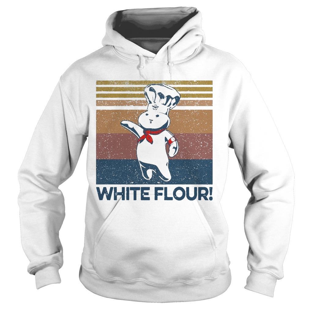 Vintage White Flour Hoodie