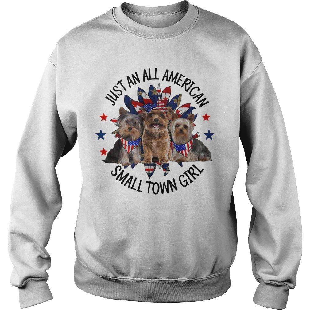 Yorkshire Terrier Just An All American Small Town Girl Sweater