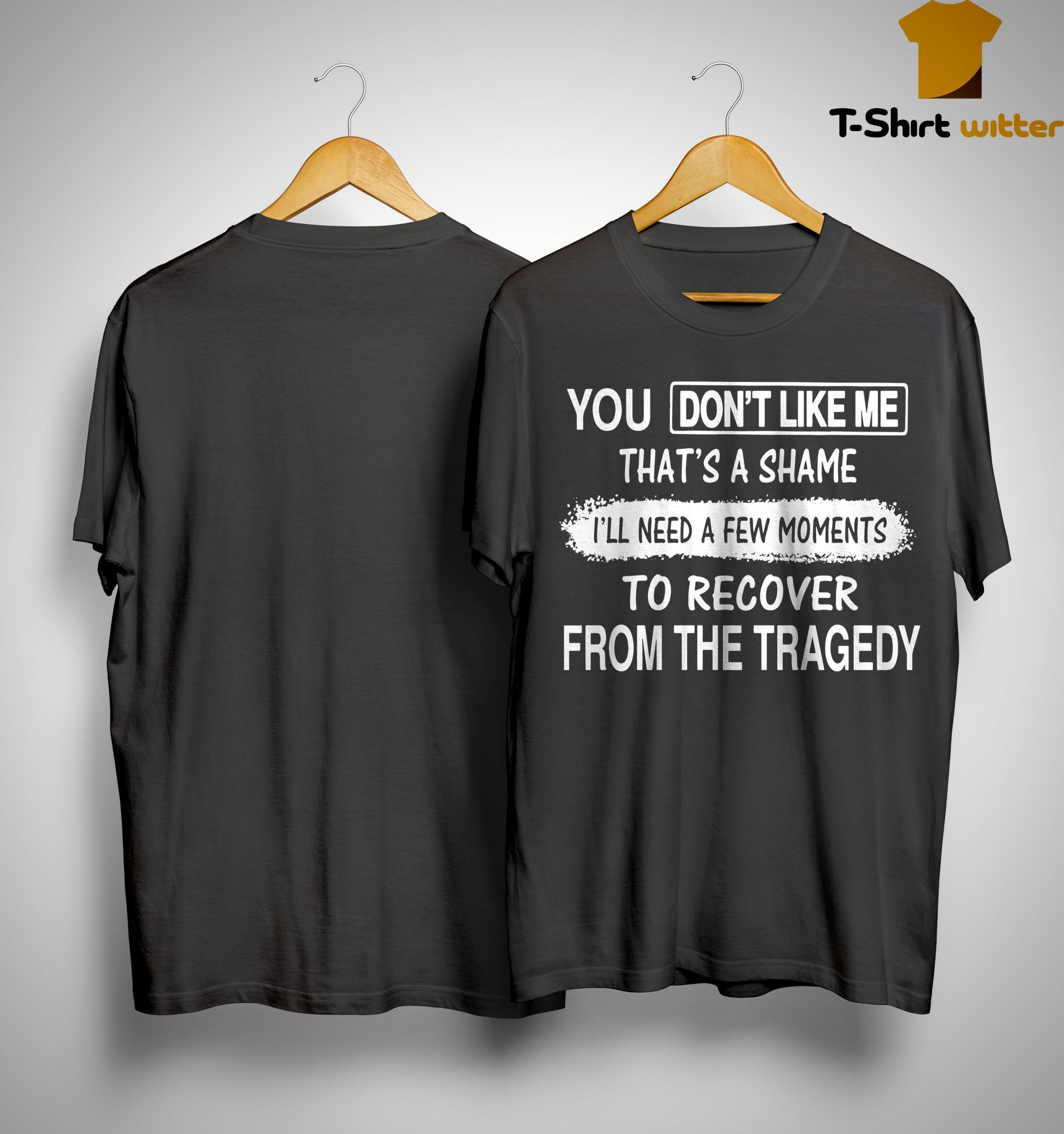 You Don't Like Me That's A Shame I'll Need A Few Moments To Recover From The Tragedy Shirt