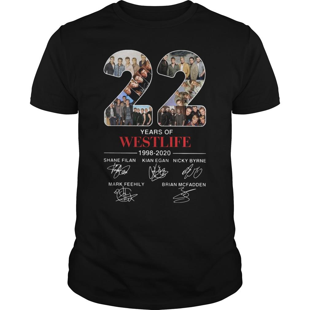 22 Years Of Westlife Shane Filan Kian Egan Nicky Byrne Shirt