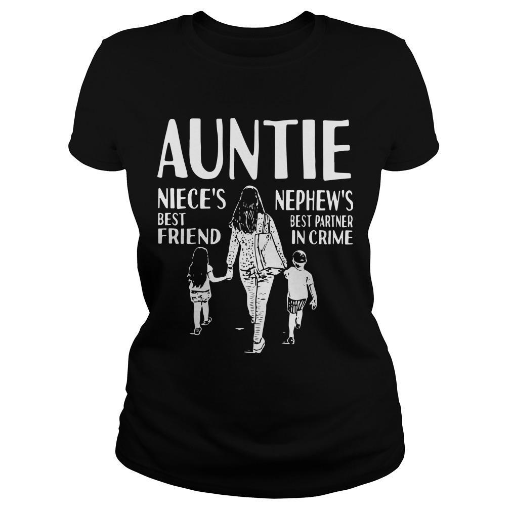 Auntie Niece's Best Friend Nephew's Best Partner In Crime Longsleeve