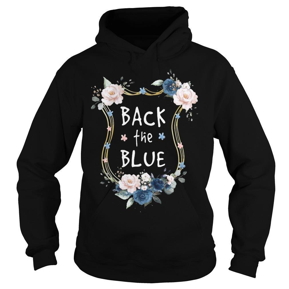 Flower Back The Blue Hoodie