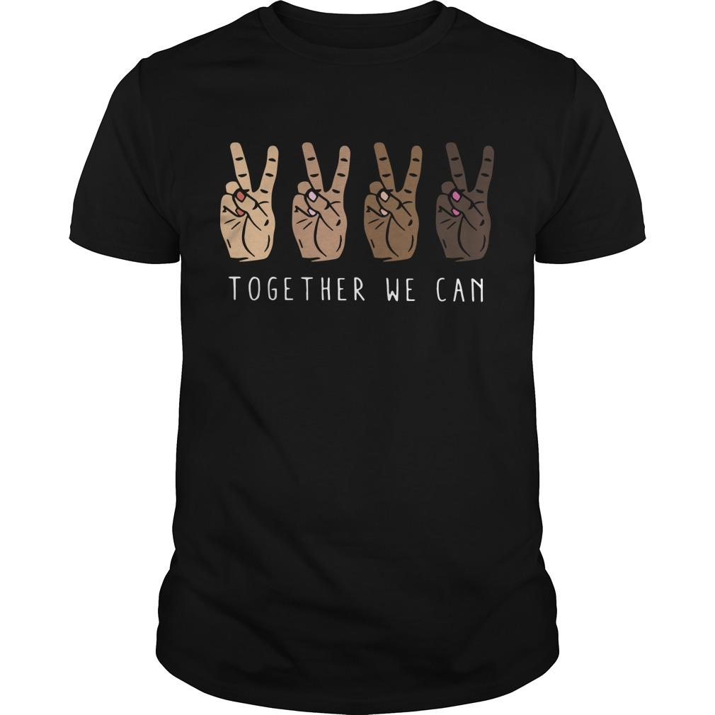 Hands Together We Can Shirt