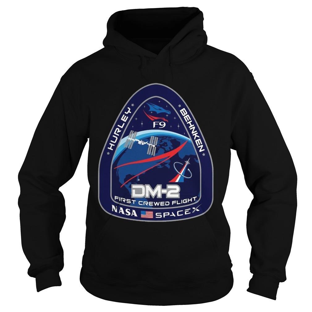 Nasa Spacex Hurley Behnken Dm2 First Crewed Flight Hoodie