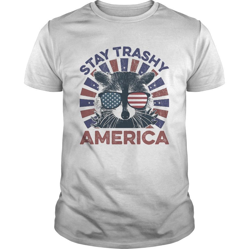 Raccoon Stay Trashy America Shirt