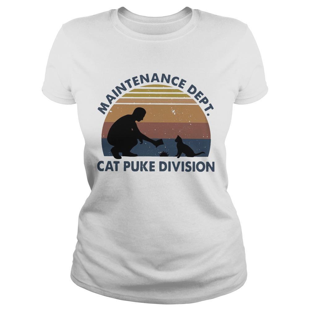 Vintage Maintenance Dept Cat Puke Division Longsleeve
