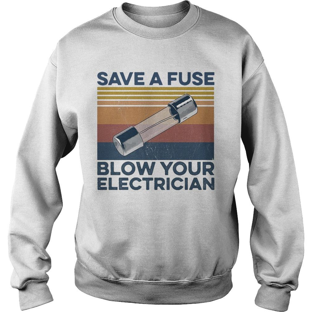 Vintage Save A Fuse Blow Your Electrician Sweater