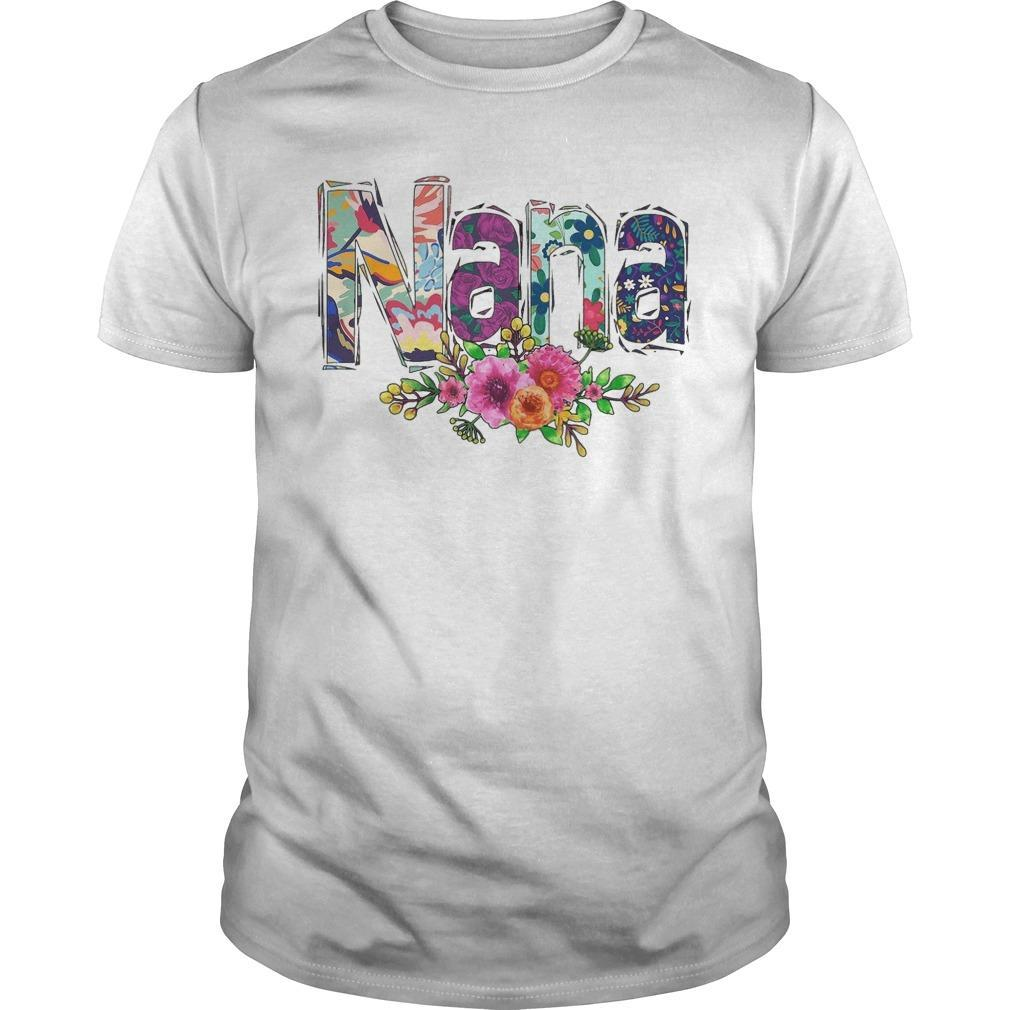 Flower Art Nana Shirt