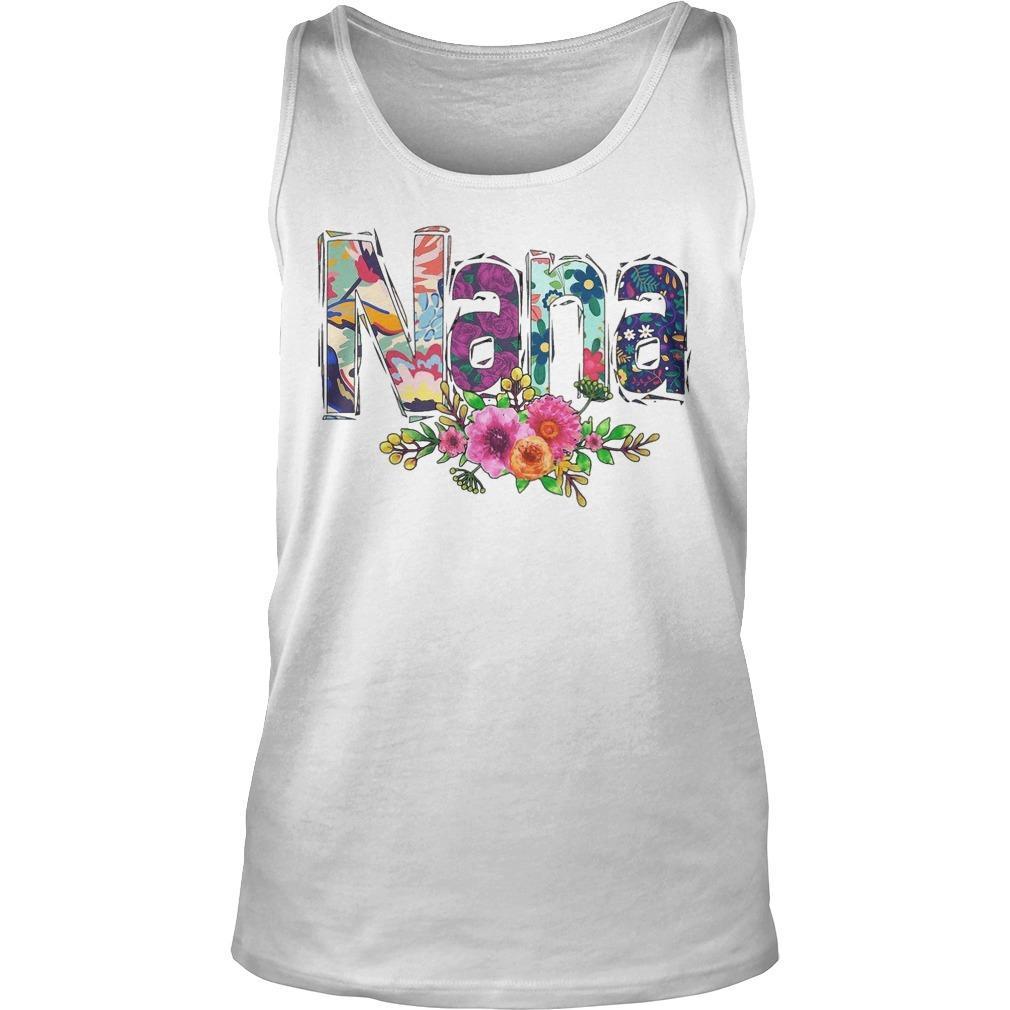 Flower Art Nana Tank Top