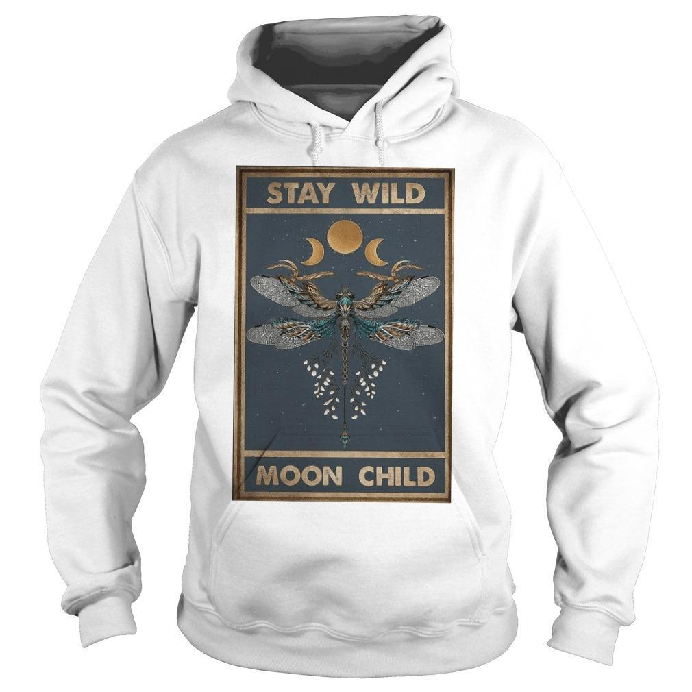 Hippie Dragonfly Stay Wild Moon Child Hoodie