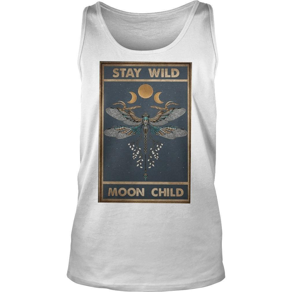 Hippie Dragonfly Stay Wild Moon Child Tank Top