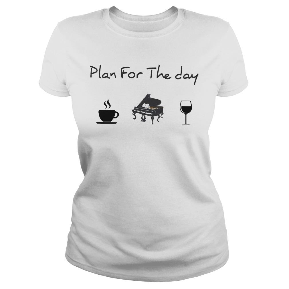 Plan For The Day Coffee Piano Wine Longsleeve