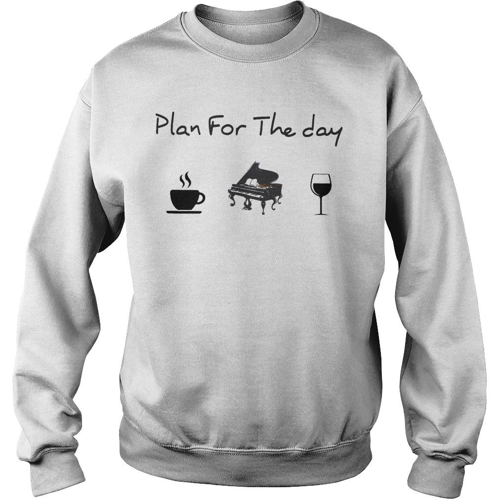 Plan For The Day Coffee Piano Wine Sweater