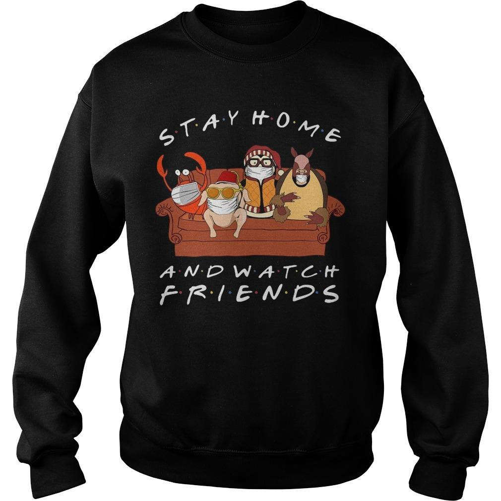 Stay Home And Watch Friends Sweater