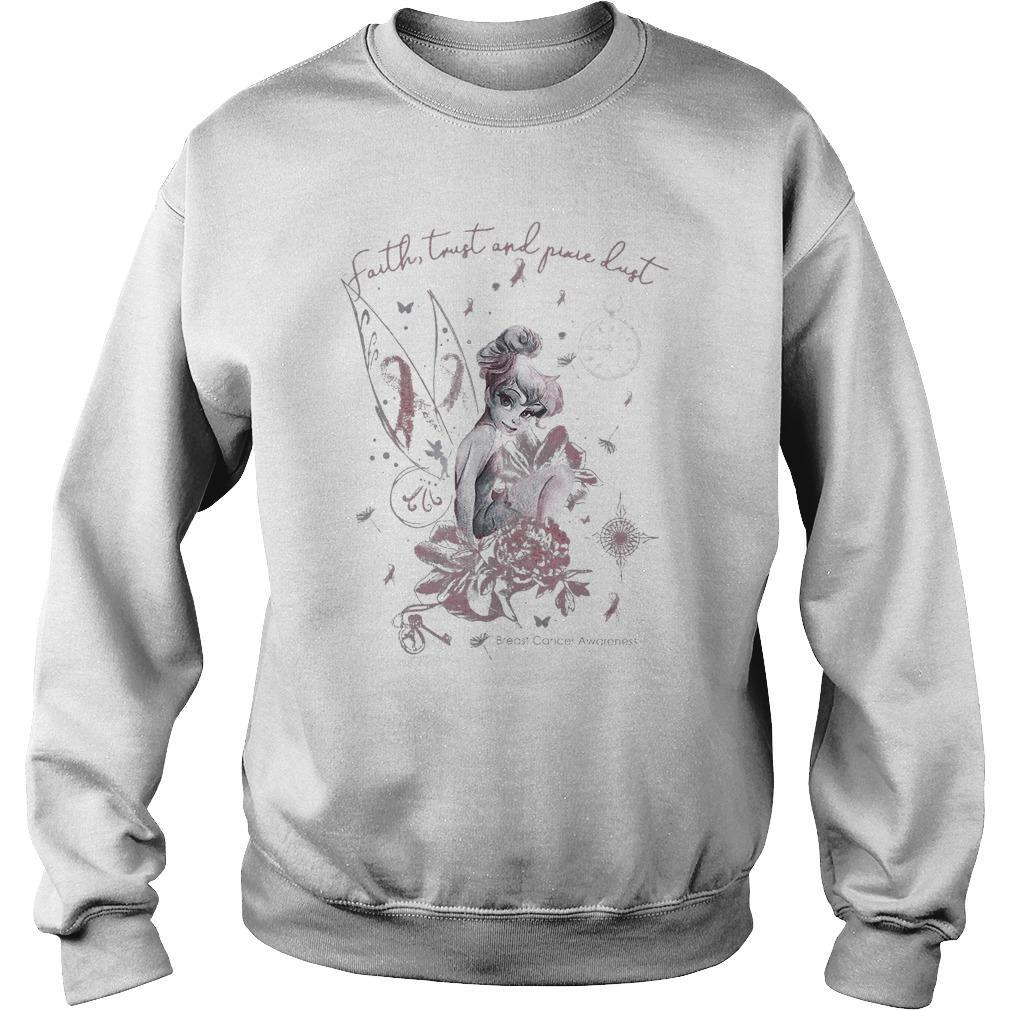 Tinkerbell Faith Trust And Pure Dust Breast Cancer Awareness Sweater